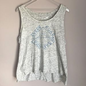 Old Navy Tank Top Boyfriend Fit Gray Cover Up L